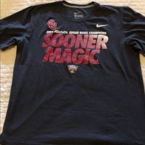 Oklahoma Sooners 2014 Sugar Bowl Champs Shirt XL